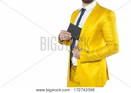 Policies In A Gold Suit Hides The Envelope