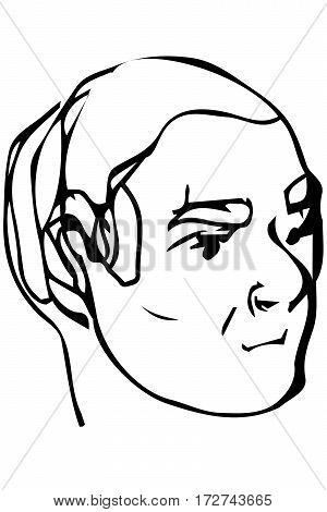 Sketch Of The Face Of An Adult Male