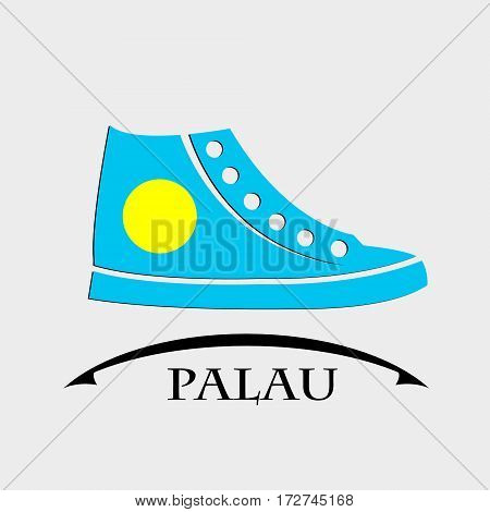 shoes icon made from the flag of Palau