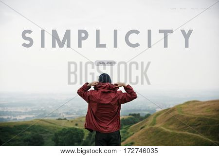 Simplicity Attitude Be Positive Word