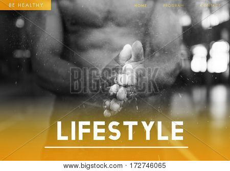 Man Muscle Lifestyle Concept