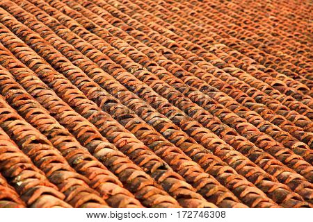 Pattern of roof tiles background image