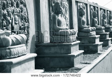Buddha statues in Amaravati ,New capital of Andhra pradesh