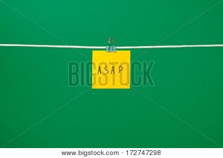 Yellow Paper Note On The String With Text Asap