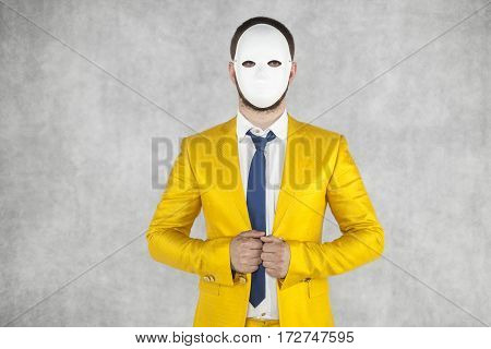 Portrait Of A Man Wearing A Mask, An Unknown Person