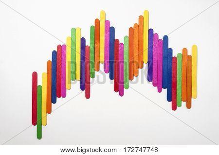 stock graph ice cream concept on white screen