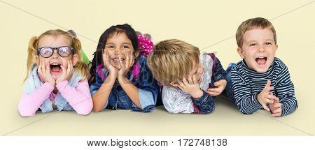 Little Children Having Fun Together Smiling