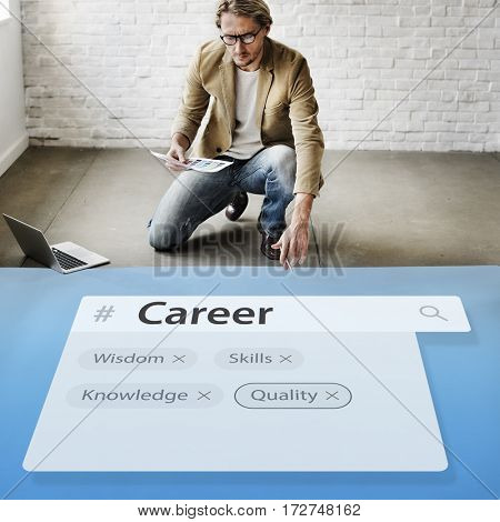 Career Experience Knowledge Skils Graphic Words