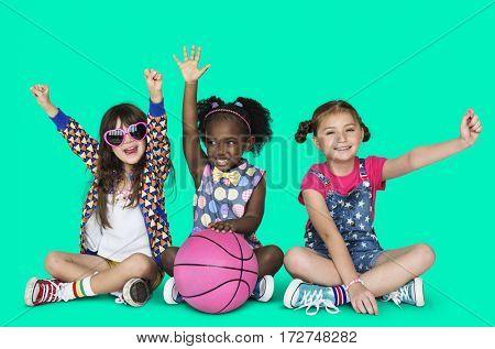 Little Children Sports Basketball Active