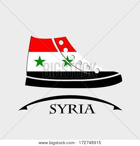 shoes icon made from the flag of Syria