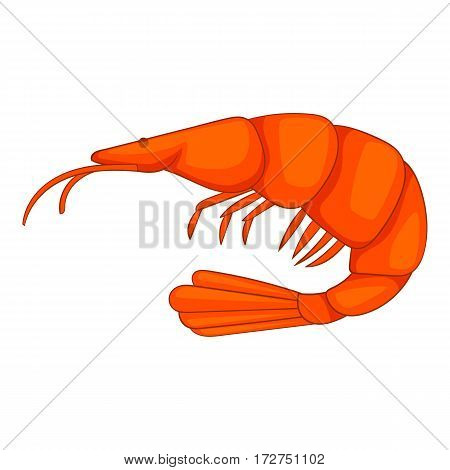 Shrimp icon. Cartoon illustration of shrimp vector icon for web