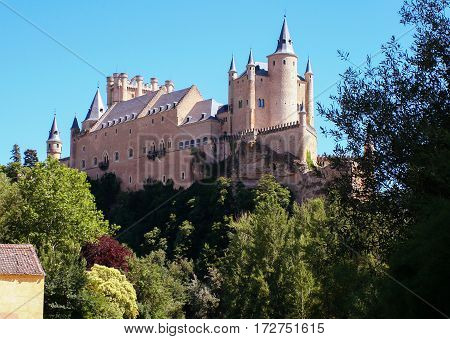 Famous Medieval castle Alcazar de Segovia- Segovia,Spain