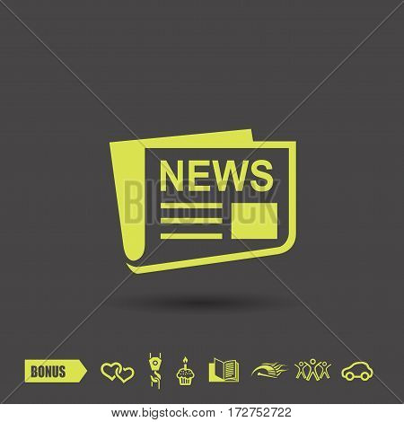 News icon. Vector concept illustration for design. Eps 10