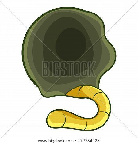 Orbit with grub icon. Cartoon illustration of orbit with grub vector icon for web