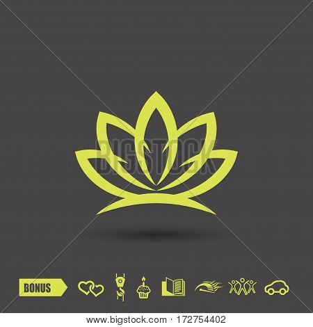 Pictograph of lotus. Vector concept illustration for design. Eps 10