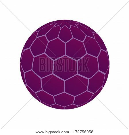 unusual purple ball. dispute the virus molecule cage. Isolated object.