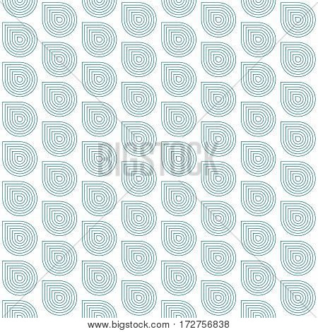 Abstract geometric blue and white minimalistic background with stylized water drops