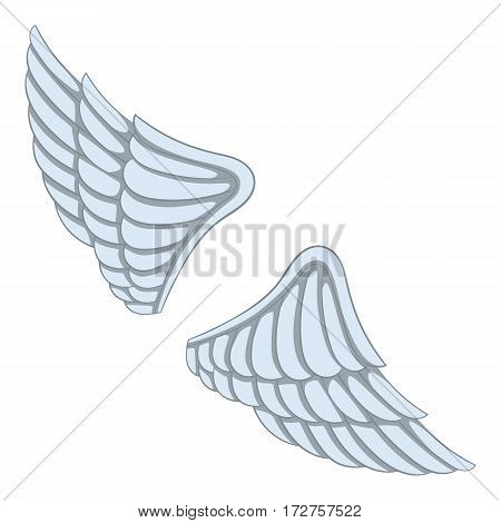 Wings icon. Cartoon illustration of wings vector icon for web