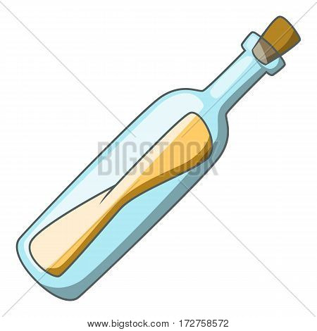 Message in a bottle icon. Cartoon illustration of message in a bottle vector icon for web