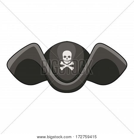 Piracy hat icon. Cartoon illustration of piracy hat vector icon for web