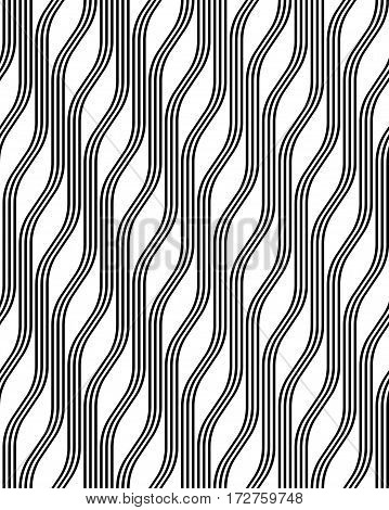 Abstract geometric black and white minimalistic background with stylized waves