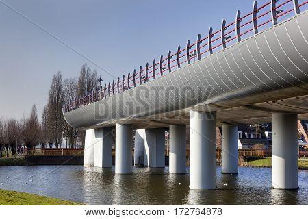 Terminus of the metro overpass in Spijkenisse in the Netherlands