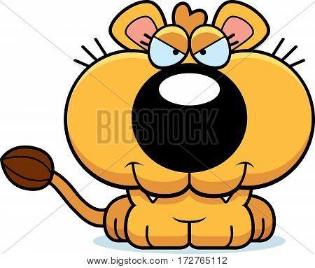 Cartoon Sly Lioness Cub