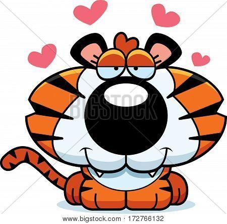 Cartoon Tiger Cub Love