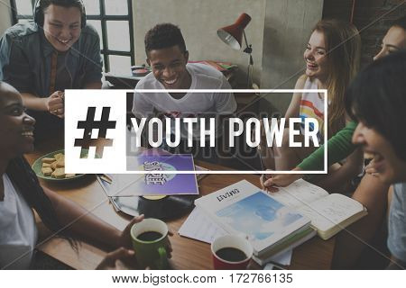 People Young Attitude Youth Power