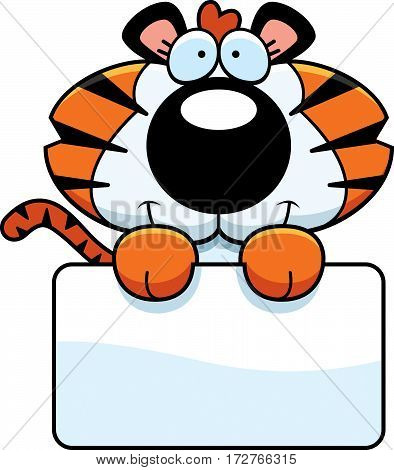 Cartoon Tiger Cub Sign