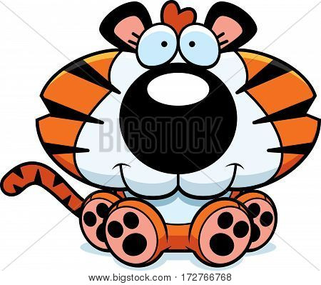 Cartoon Tiger Cub Sitting