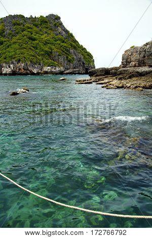 Asia   The  Kho Phangan Isles Bay   Rope  Sea