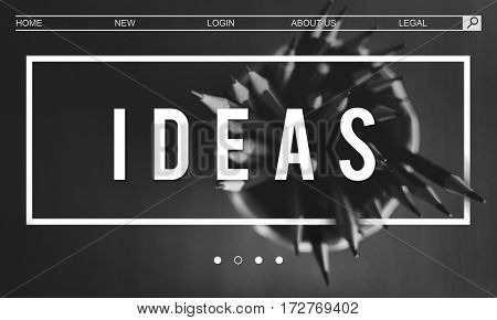 Creativity Inspire Minimalistics Idea Graphic Word