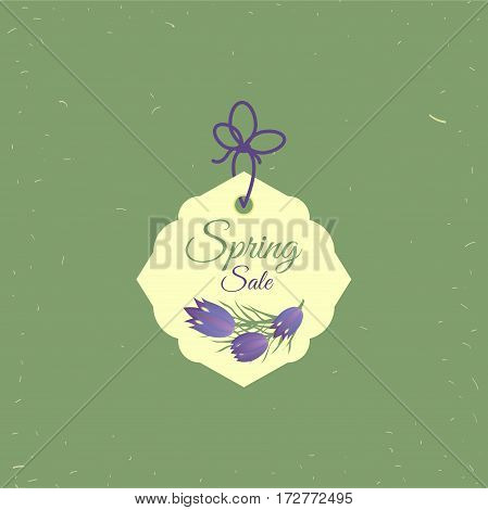 Spring sale tag. Banners poster tag design, voucher template EPS 10 vector, grouped for easy editing. No open shapes or paths