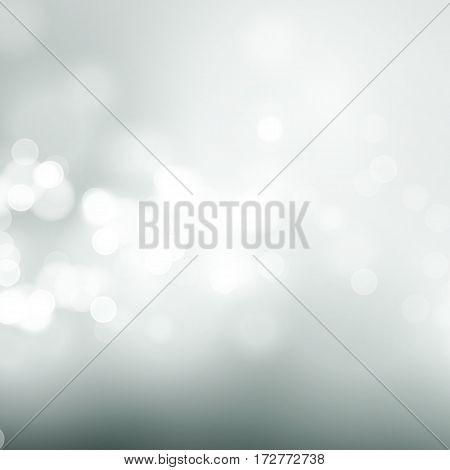 Abstract gray circular bokeh background. Vector illustration EPS10