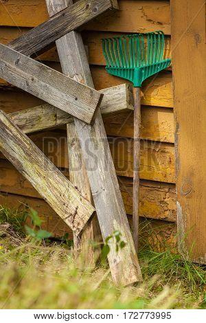 Standing Fork Harrows Rake, Gardening Equipment.