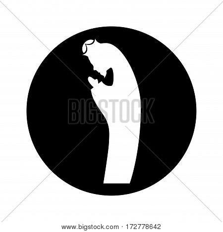 manger saint joseph figure silhouette icon vector illustration design