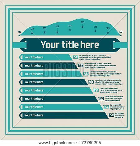 Infographics elements - bar charts, line chart. Vector illustration