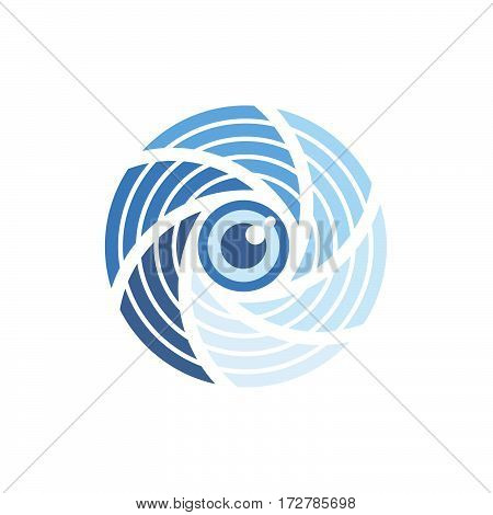 Photo Camera Shutter Eye Stylized Flat Icon