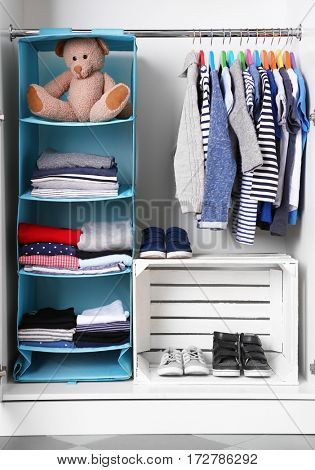 Wardrobe with kid clothes