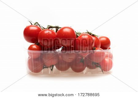 Fresh Vegetable, Cherry Tomato Isolated On White Background