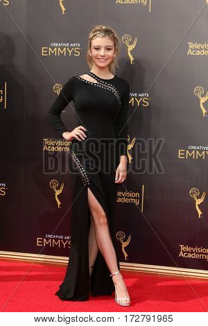 LOS ANGELES - SEP 10:  G Hannelius at the 2016 Creative Arts Emmy Awards - Day 1 - Arrivals at the Microsoft Theater on September 10, 2016 in Los Angeles, CA