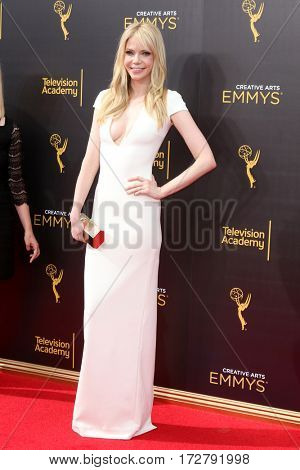 LOS ANGELES - SEP 10:  Riki Lindhome at the 2016 Creative Arts Emmy Awards - Day 1 - Arrivals at the Microsoft Theater on September 10, 2016 in Los Angeles, CA