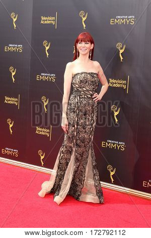 LOS ANGELES - SEP 10:  Carrie Preston at the 2016 Creative Arts Emmy Awards - Day 1 - Arrivals at the Microsoft Theater on September 10, 2016 in Los Angeles, CA