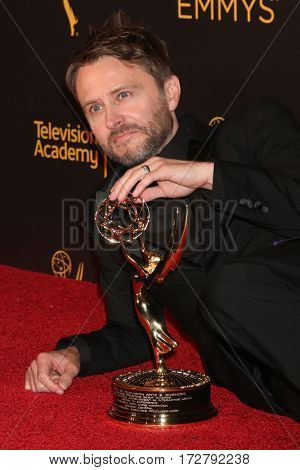 LOS ANGELES - SEP 11:  Chris Hardwick at the 2016 Primetime Creative Emmy Awards - Day 1 - Press Room at the Microsoft Theater on September 11, 2016 in Los Angeles, CA