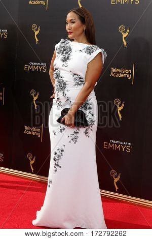 LOS ANGELES - SEP 11:  Carrie Ann Inaba at the 2016 Primetime Creative Emmy Awards - Day 2 - Arrivals at the Microsoft Theater on September 11, 2016 in Los Angeles, CA