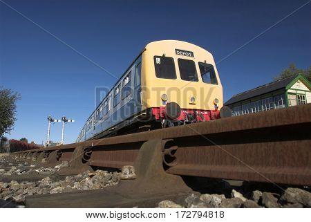 Class 101 diesel locomotive multiple unit train.