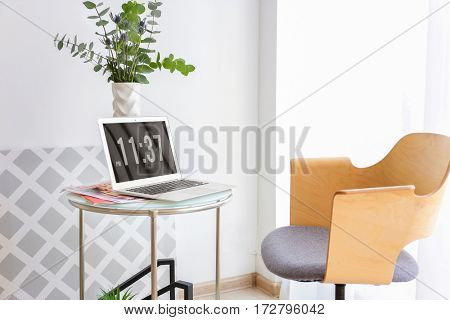 Comfortable workplace in office