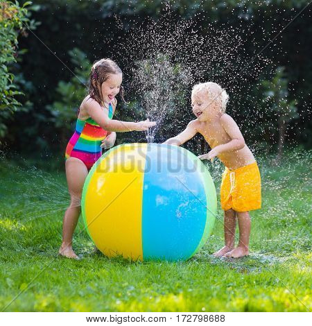 Kids Playing With Water Ball Toy