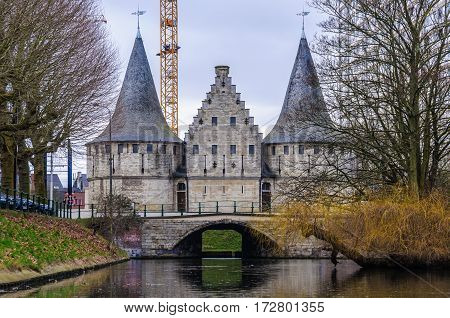 Towers In The Outer Canals In Ghent, Belgium